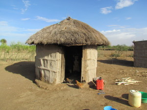 His own hut - February 2012